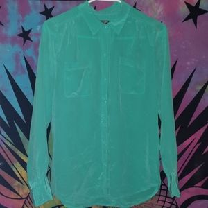 Teal Casual Dress Shirt/Blouse from J. Crew